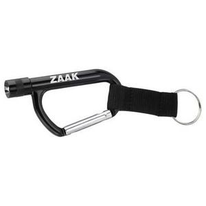 Flashlight Carabiner with Strap