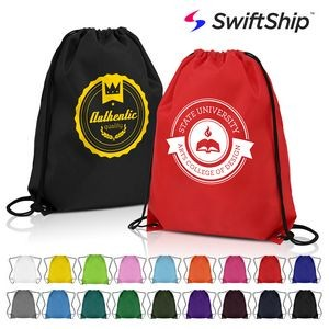 Classic Polyester Drawstring Sports Backpack